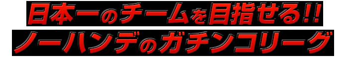 日本一のチームを目指せる!!ノーハンデのガチンコリーグ
